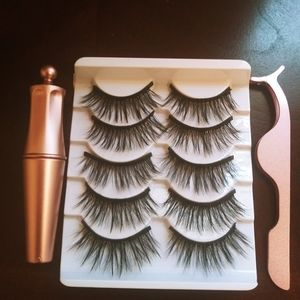 5 Pair of Magnetic Lashes (Diamond)